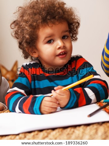 Mixed race child - stock photo