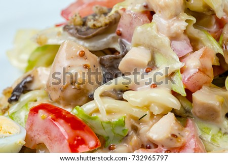 Mixed salad with mayonnaise