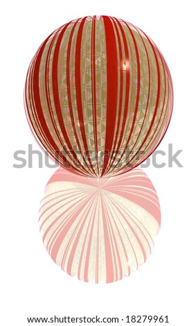 mixed striped glass ball