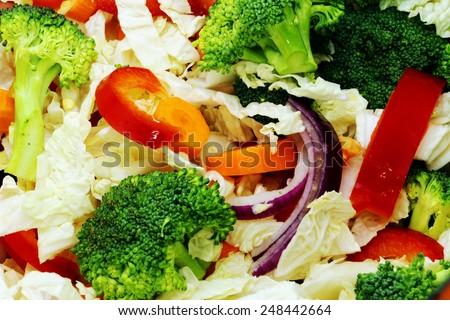 mixed vegetables - stock photo