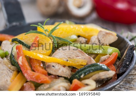 Mixed Vegetables with Chicken meat and fresh herbs