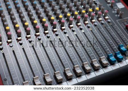 Mixer board - stock photo