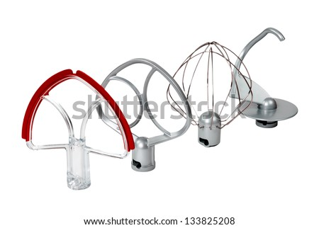 mixer whisk on a white background isolated - stock photo