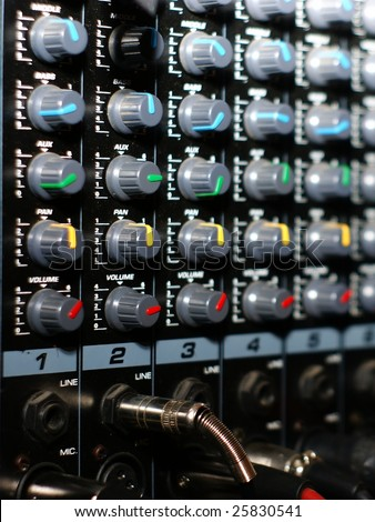 Mixing board, detail music accessories