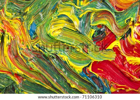 Mixing Color Paint - stock photo