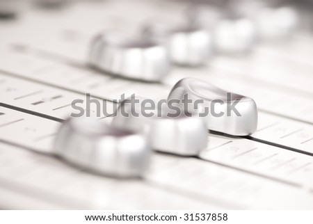 mixing console silver
