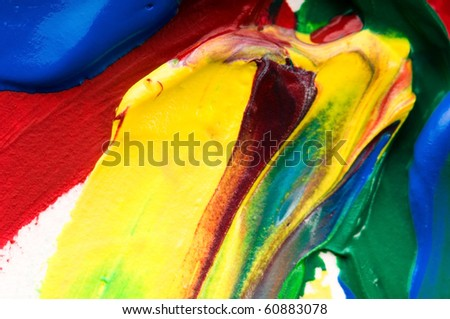 mixing paints. backrgound - stock photo
