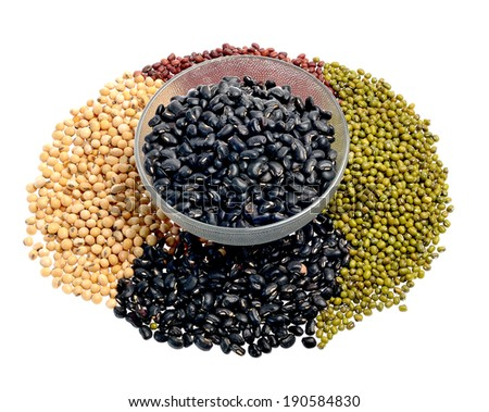 Mixture of beans, peas