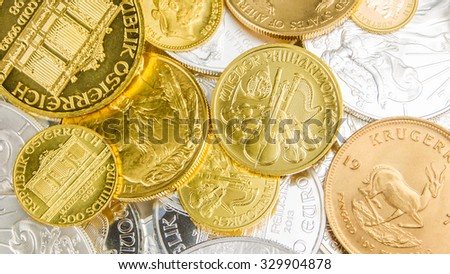Krugerrand stock images royalty free images vectors for Mixture of gold and silver