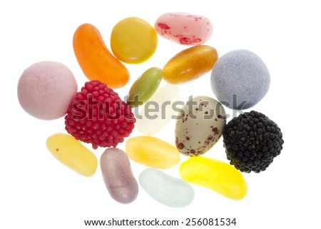 mixture of sweets isolated cutout - stock photo