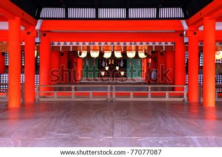 Miyajima's Shinto Shrine in Japan - stock photo