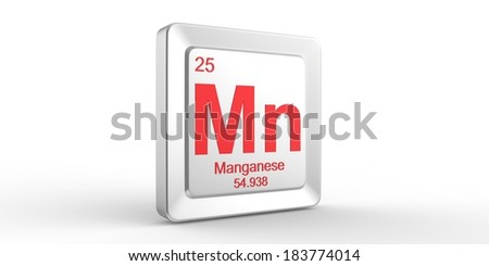 Mn symbol 25 material for Manganese chemical element of the periodic table  - stock photo