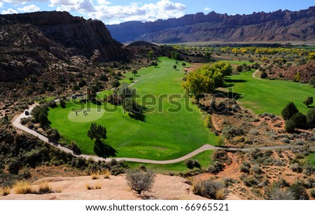 Moab Golf Course - stock photo