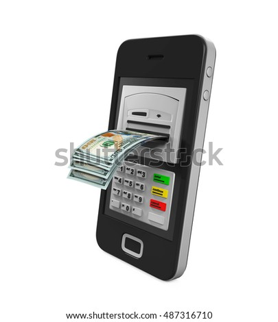Mobile Banking Concept. 3D rendering
