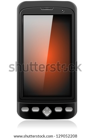 Mobile Cell Smart Phone Realistic Illustration isolated