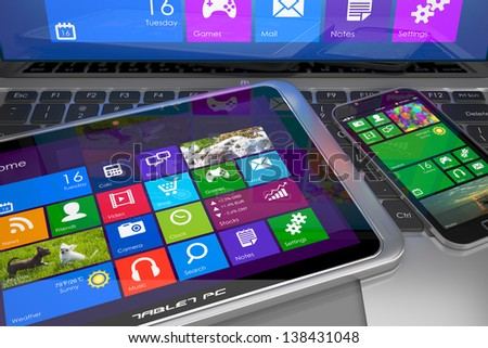 Mobile devices - stock photo