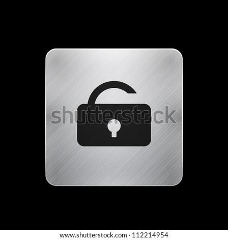 Mobile lock app icon / button - stock photo