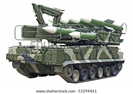 Mobile missile launcher - stock photo