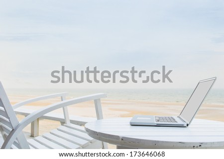 Mobile office - stock photo