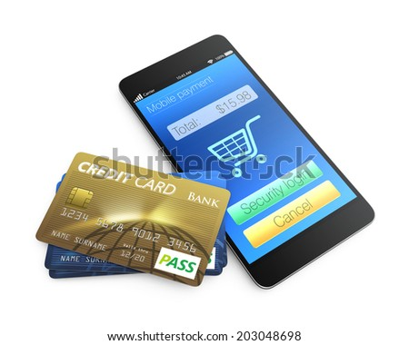 Mobile payment concept.  - stock photo
