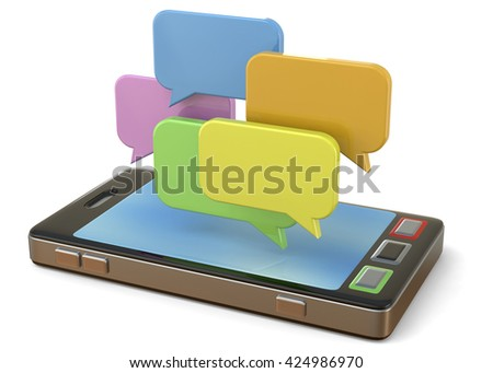 Mobile Phone and Chat - 3D