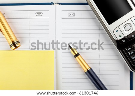 mobile phone and variety stationery