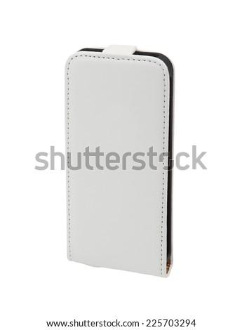 Mobile phone case isolated on white background  - stock photo