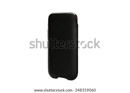 Mobile phone cases. Black - stock photo