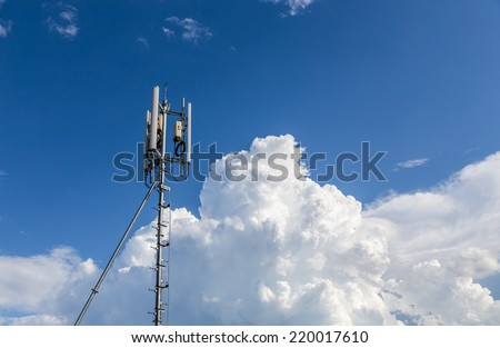Mobile phone communication repeater antenna