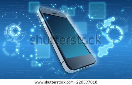 Mobile phone in the abstract cosmic background