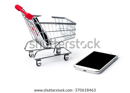 mobile phone in the cart