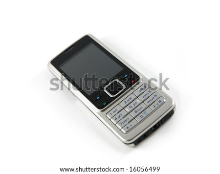 Mobile phone (isolated) - stock photo