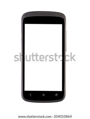 Mobile phone. Isolated on a white background. - stock photo