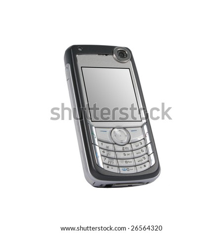 mobile phone. Isolated on white background. - stock photo