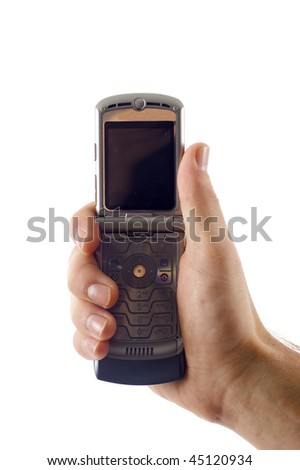 Mobile Phone  - Isolated over a white background