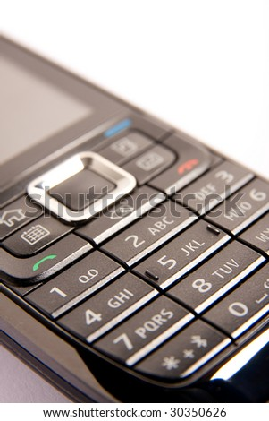 Mobile phone, isolated over white background