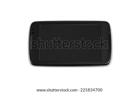 Mobile phone. Isolated with clipping path.