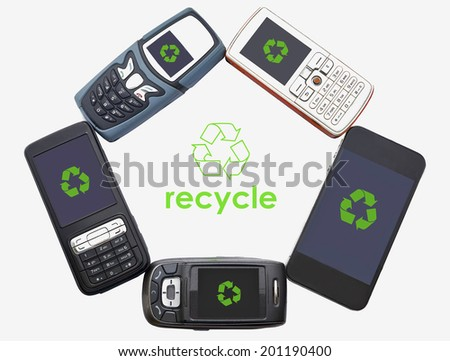 E waste stock photos e waste stock photography e waste stock images - Recycling mobel ...