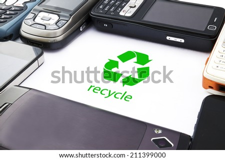 Mobile Phone Recycling - stock photo