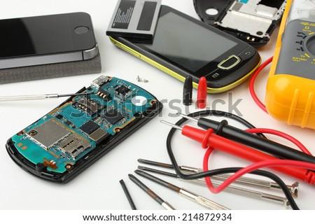 Mobile phone repair #3 - stock photo