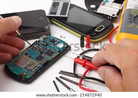 Mobile phone repair #2 - stock photo