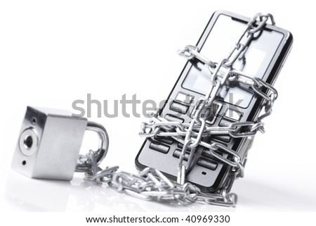 Mobile phone security - stock photo