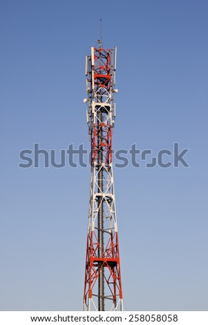 Mobile phone signal tower - stock photo