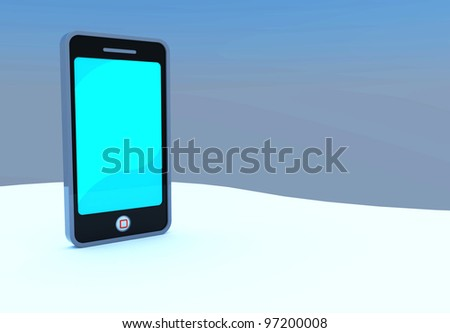Mobile phone to created by three dimension program - stock photo