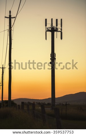Mobile Phone Tower in the late afternoon in Queensland.