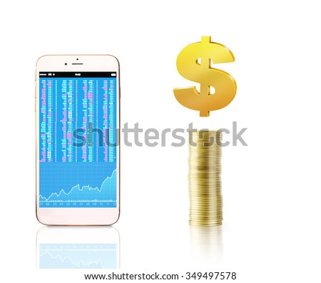 Mobile phone with a blank screen - stock photo
