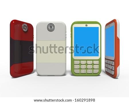 mobile phones - stock photo