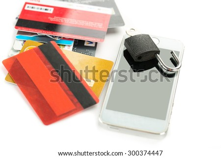 Mobile security application interface concept with white background