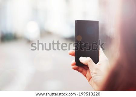 mobile smart phone - stock photo