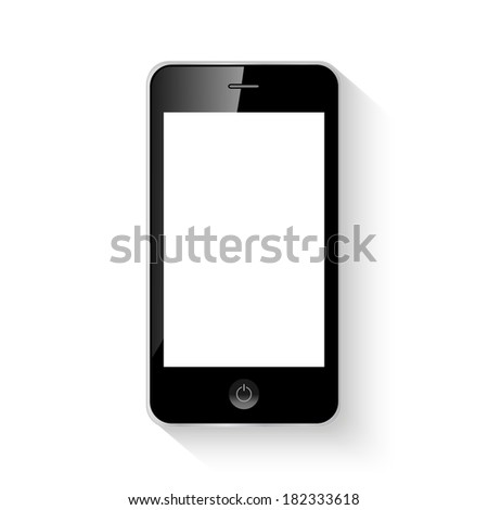 Mobile smart phone illustration isolated. (EPS vector version also available in portfolio) - stock photo